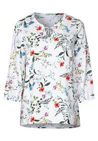 Tunika Bluse mit Blumenprint