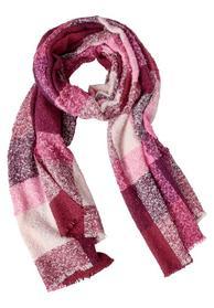 Flauschiger Schal mit Karo