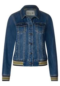 College Denim Jacket, mid blue wash