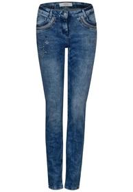 Charlize slim deco - 30320/mid blue used wash