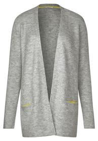 Structured Flex Open Cardigan - 10327/mineral grey