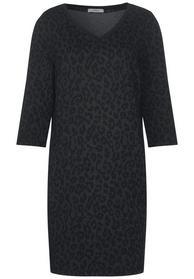Jersey Leo Jacquard Dress - 20001/Black