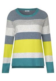 Block Stripe Pullover, light water green