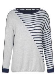 TOS Stripe melange patchwork - 30128/deep blue
