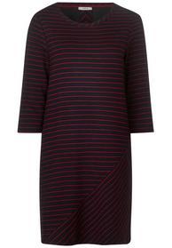 Jersey Kleid mit Streifenmix