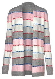 Multicolored Striped Cardigan - 30327/mineral grey