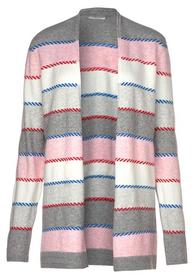 Multicolored Striped Cardigan
