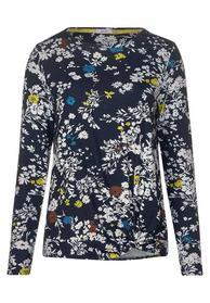 TOS Flower AOP Knot Shirt - 30128/deep blue