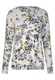 TOS Flower AOP Knot Shirt - 32101/alabaster beige