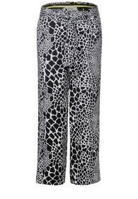 EOS_Wide Leg with print - 30001/Black