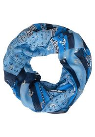 TOS Patch And Foil Print Loop - 30128/deep blue