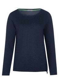 TOS Dot Doubleface T-Shirt - 20128/deep blue
