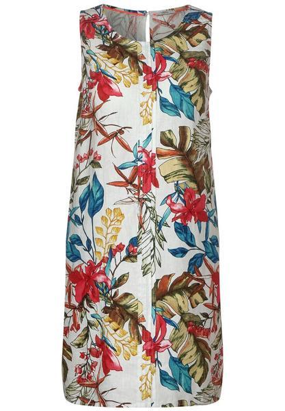LINEN_sleeveless Dress w. flow