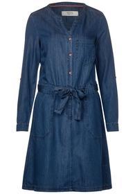 Lyocell Dress - 10315/Dark blue wash