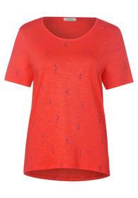 TOS Mini Birds AOP T-Shirt - 32252/tangerine orang