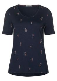 TOS Mini Birds AOP T-Shirt - 30128/deep blue
