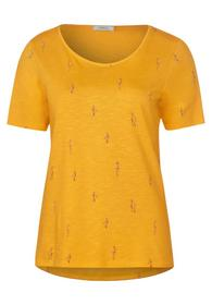 TOS Mini Birds AOP T-Shirt - 32050/mango yellow