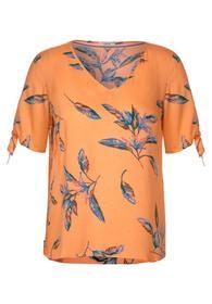 Bluse mit Blättermuster