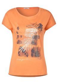 T-Shirt mit Blätterprint