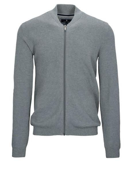 Baseball Cardigan mit Zip-L