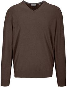 (S)NOS V-Pullover uni, BROWN