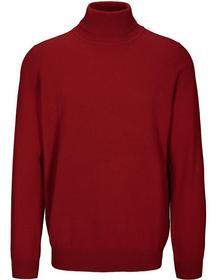 (S)NOS Rollkragen Pullover uni - 440/RED