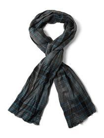 twill check scarf