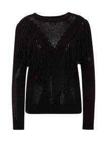 pullover with fringes