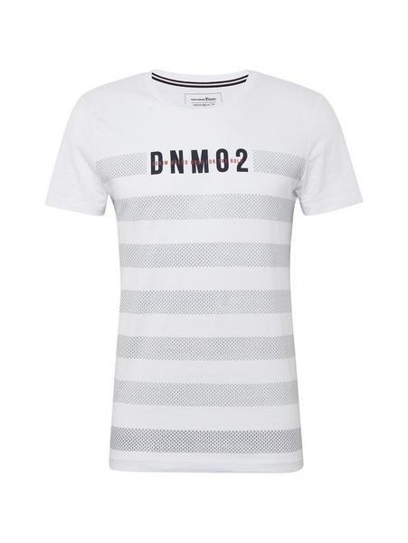 T-Shirt mit Streifenmuster und Print