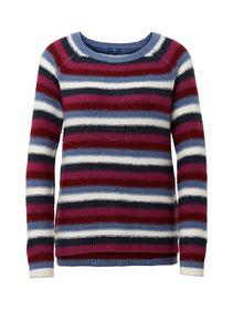 striped sweater boucle yarn - 14477/stripe blue