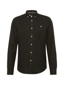 melange structured shirt