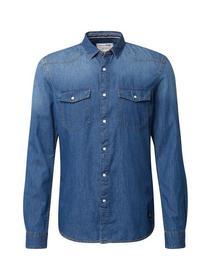 denim shirt - 10141/Stone Blue Denim