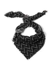 monochrome triangle scarf