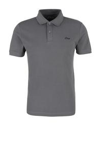 POLOSHIRT - 9490/smoke grey