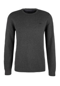 Pullover langarm, charcoal m