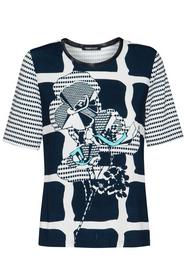 Shirt Nizza mit Netzblende am Ausschnitt