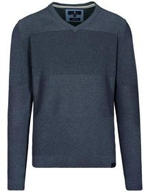 Staccato BASEFIELD V-Pullover mit Struktur-Muster