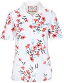 (S)NOS Poloshirt,1/2 Arm,Blume - 414/414 FLAMINGO