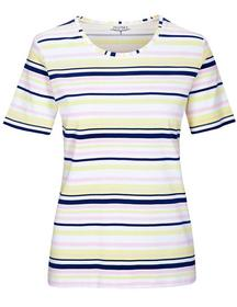 (S)NOS T-Shirt Streifen - 433/433 P.ROSE-BLUE-NAVY