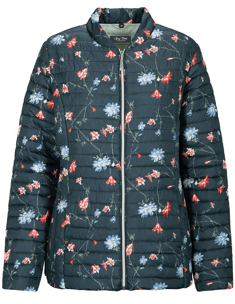 Stepp-Jacke, AOP, DARK NAVY