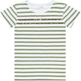 Staccato Streifenshirt mit Glitzer
