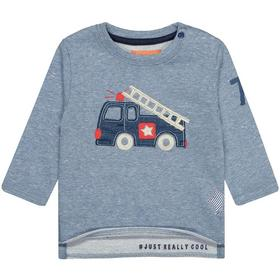 Kn.-Sweatshirt - 611/BLUE MEL.STRUCTURE