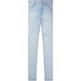 Highwaist Jeans, skinny slim, LIGHT BLUE DENIM