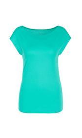 Einfarbiges Basic-T-Shirt aus Baumwolle
