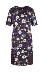 Kleid mit Flower-Bird-Print