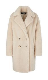 Flauschiger Fake-Fur-Mantel