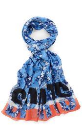 Schal mit Bloomy-Print