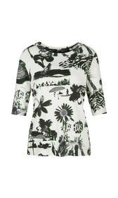 T-Shirt, white and black