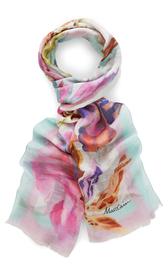 Schal mit Orchideen-Print