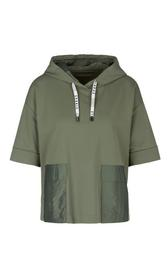 Verkürztes Kapuzen-Sweatshirt